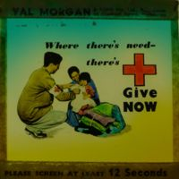 """""""Where there's need...there's Red Cross Give NOW'"""""""