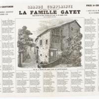 Grande Complainte de l'horrible assassinat commis sur la famille Gayet.