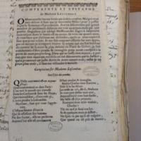 Complainte et epitaphe de Madame Lescombat