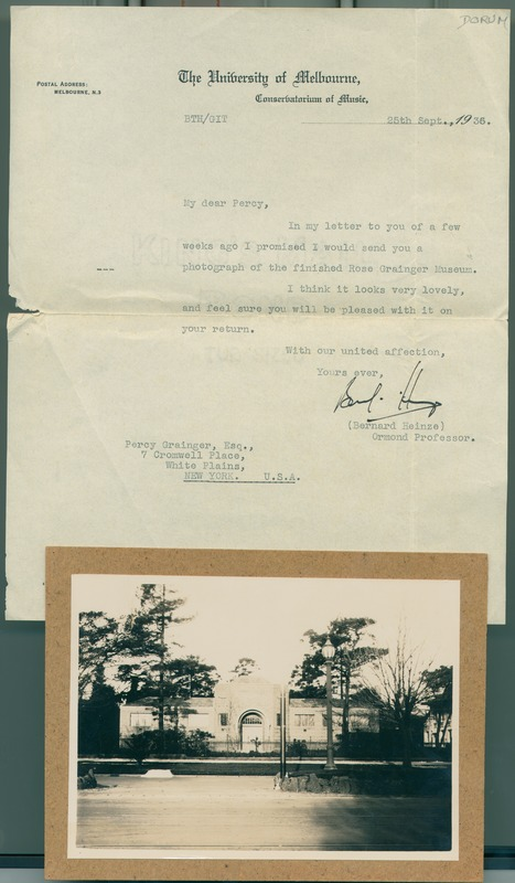 Heinze letter to PG 1936 and photo of Museum web.tif