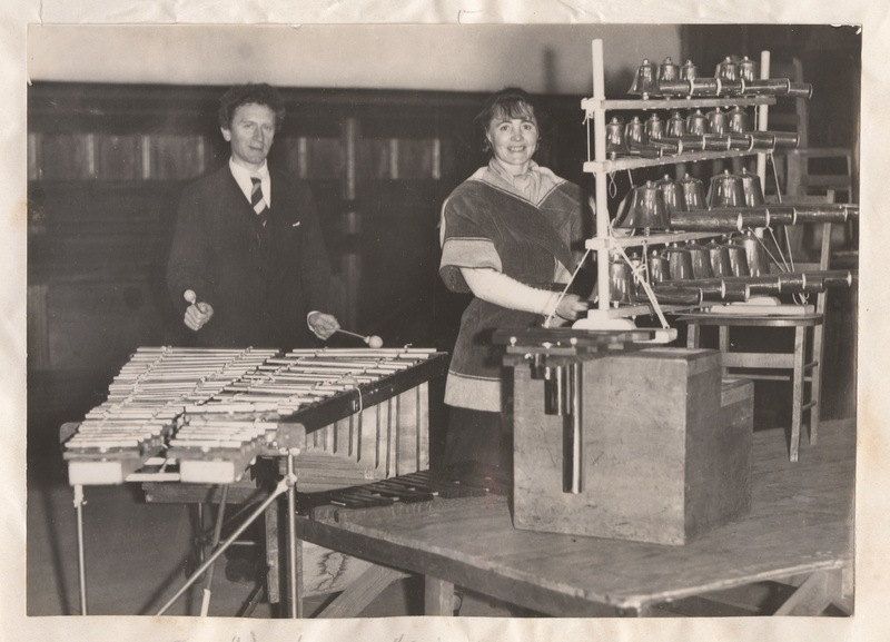 Percy and Ella Grainger preparing for Adelaide performances of Percy Grainger's compositions, August 1934
