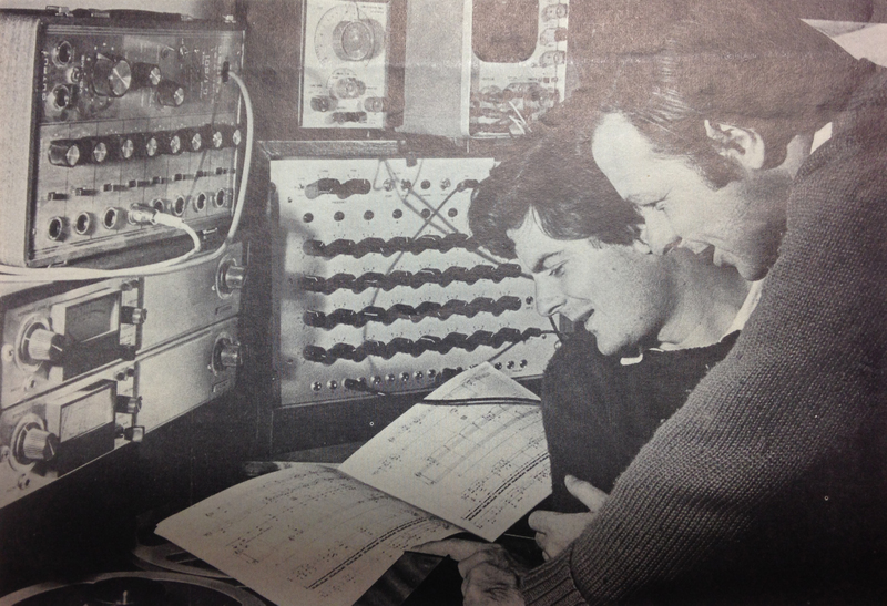 Detail, University of Melbourne Gazette, December 1971 'Electronics in Music'