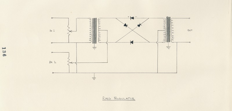Ian Bonighton, Ring modulator diagram, 1969