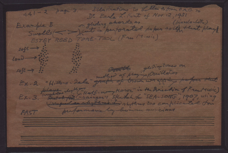 Example of swells (Estey reed tone-tool) · Grainger Museum