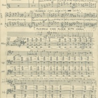 Tribute to Foster, part for mixed chorus, 7 February 1931