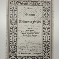 Tribute to Foster, Score for mixed chorus, 7 February 1931