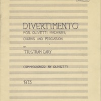 Tristram Cary, Divertimento: for Olivetti machines, chorus and percussion
