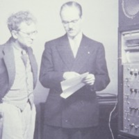 Grainger with Earle Kent and Kents Electronic Music Box 1951.tif