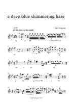 a deep blue shimmering haze