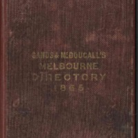 Sands & McDougall's Melbourne and Suburban Directory for 1865
