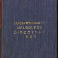 Sands & McDougall's Melbourne and Suburban Directory for 1866