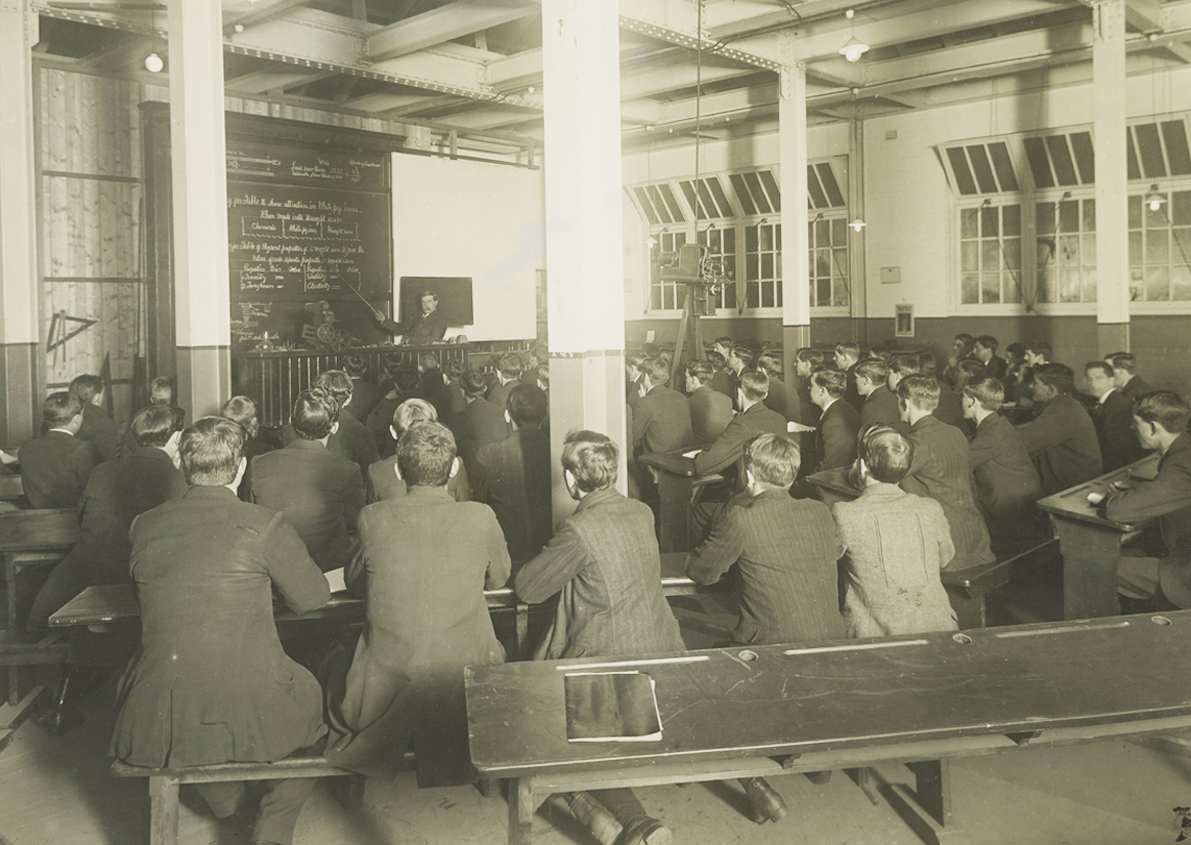 Students Receiving a Lecture, Working Mens College, later Melbourne Technical College
