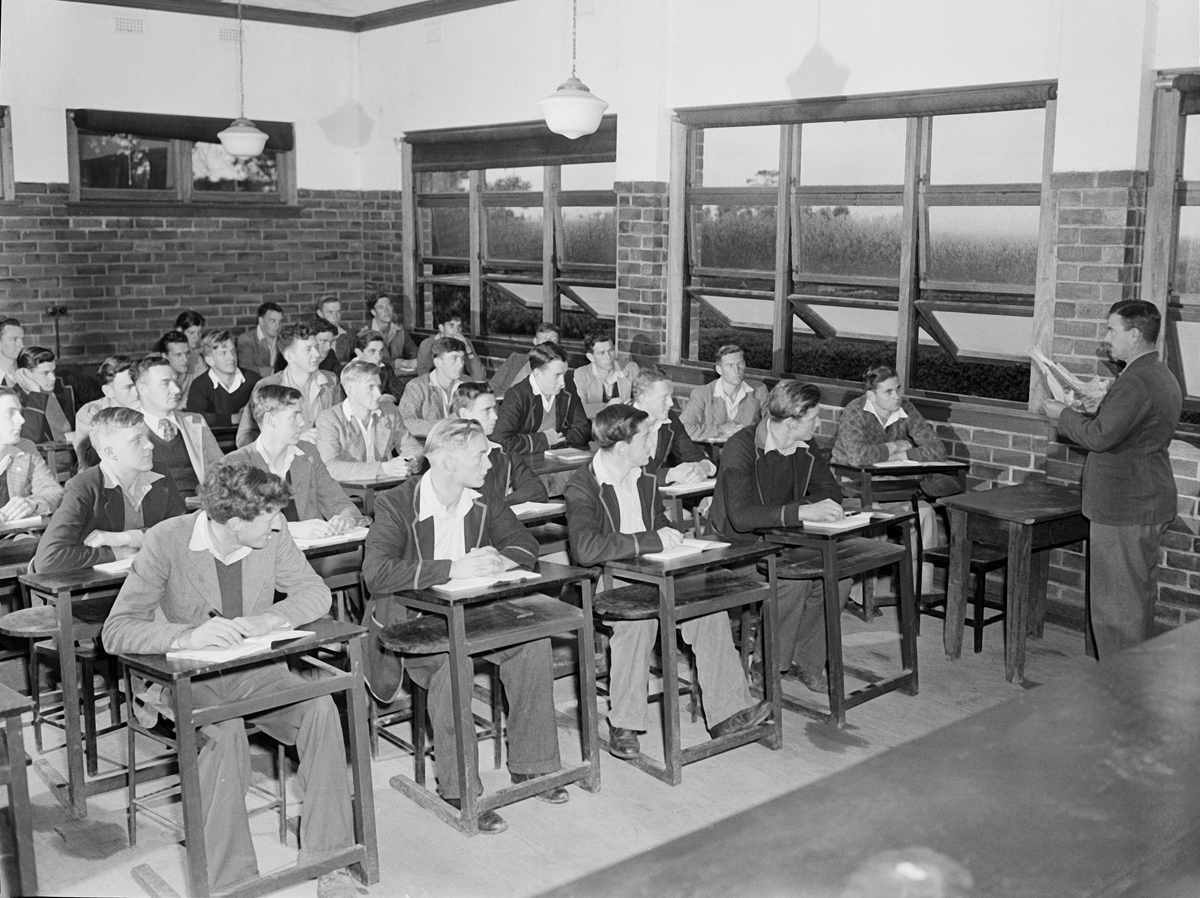 Students in Class at Dookie Agricultural College