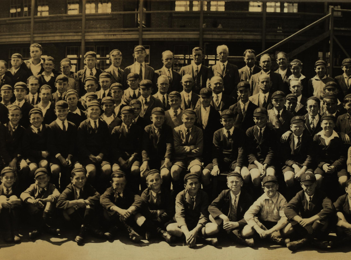 Ballarat Junior Technical School Students and Staff (detail)